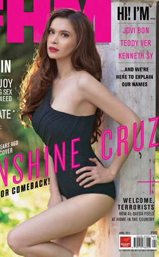 sunshine cruz on fhm philippines april 2013 cover