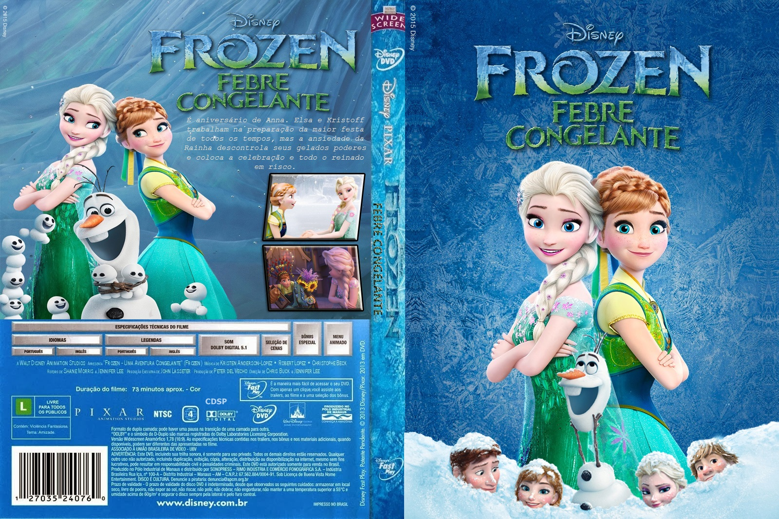 Baixar Frozen Febre Congelante BDRip XviD Dual Áudio Frozen 2B  2BFEBRE 2BCONGELANTE