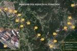Localização das paragens dos Serviços Alternativos