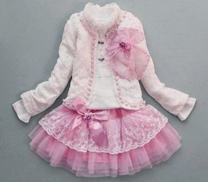 Setelan baju cantik untuk anak perempuan