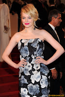 Emma Stone Alexander McQueen Savage Beauty Costume Institute Gala at The Metropolitan Museum