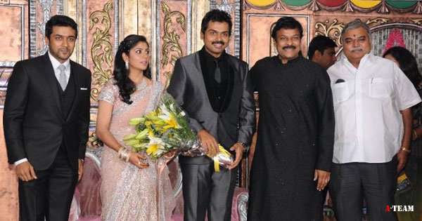 Karthi Wedding Reception Photos Exclusive suriyawedding