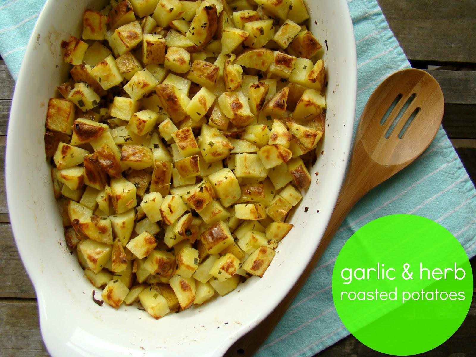 Family Feedbag: Garlic & herb roasted potatoes
