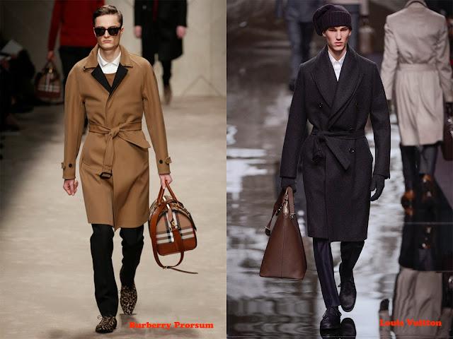 Tendencia otoño_invierno 2013-14 abrigo albornoz: Burberry Prorsum y Louis Vuitton