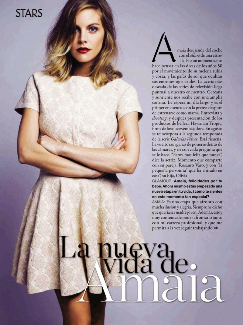Amaia Salamanca For Glamour Magazine, Spain, July 2014