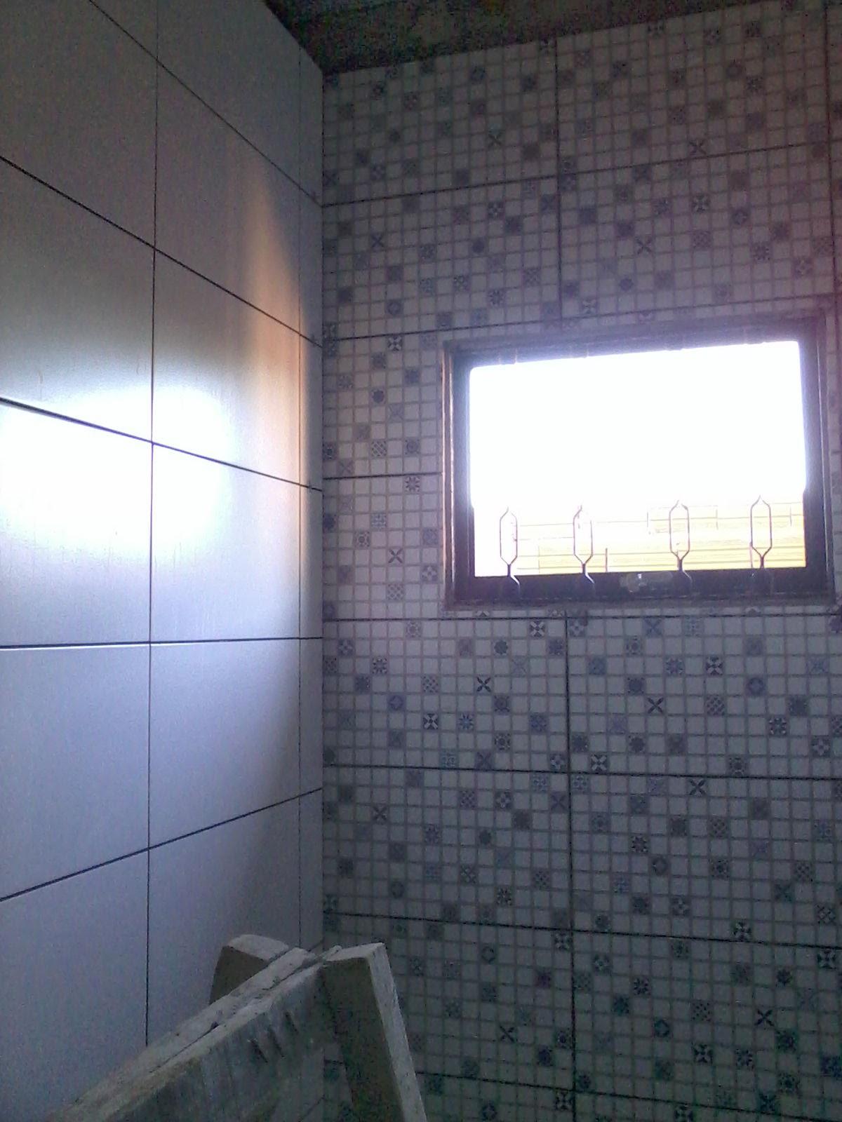 Aqui vou usar um rejunte cinza platina #3F558C 1200x1600 Banheiro Branco Com Rejunte Cinza