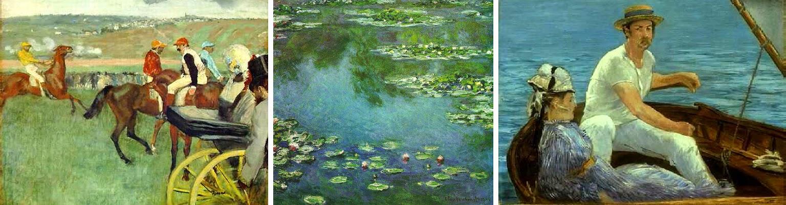 Kunst in de negentiende eeuw impressionisme - Associatie van kleur e geen schilderij ...