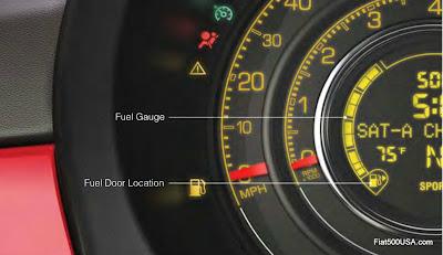 Fiat 500 Fuel Gauge