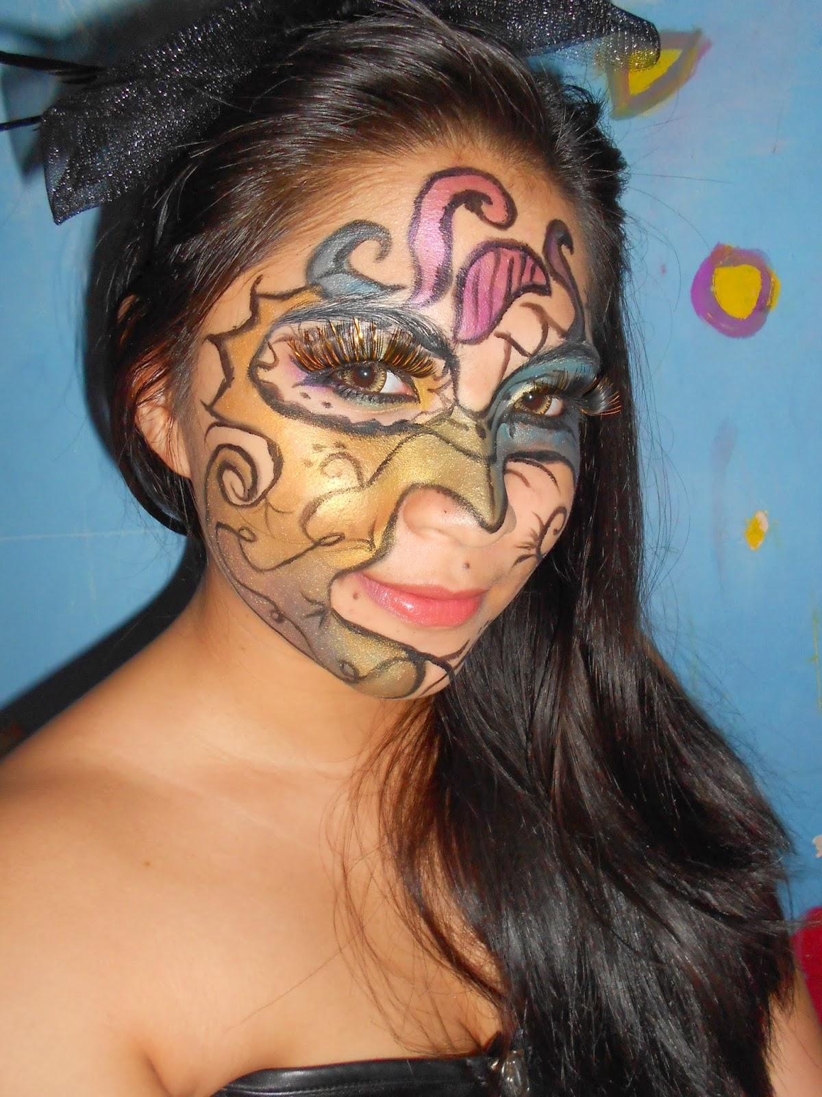 Mardi Grass Makeup Look