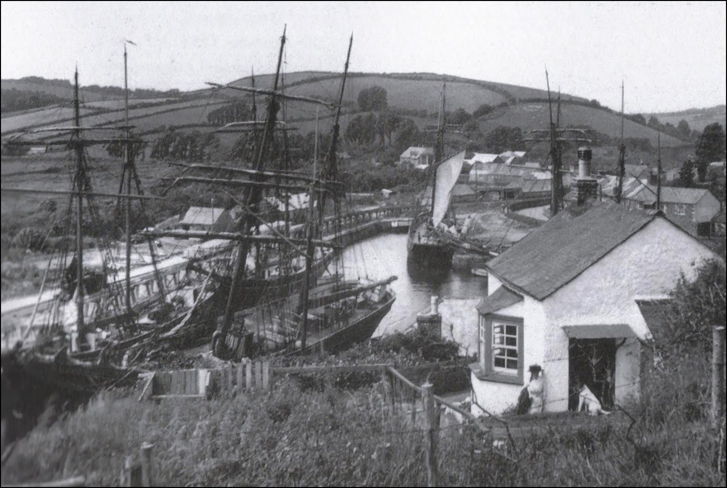 1900 photo of Pentewan, Cornwall