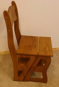 Oak Spanking Chair/Step Ladder