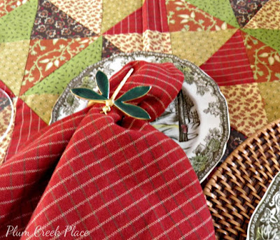 Park Designs Indian Summer table linens and The Friendly Village plates