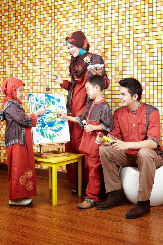 Butik baju muslim terbaru toko busana gamis jilbab dan Baju gamis couple ibu ayah anak