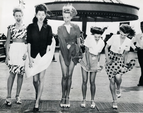 Vintage Ladies - 1943 Coney Island.