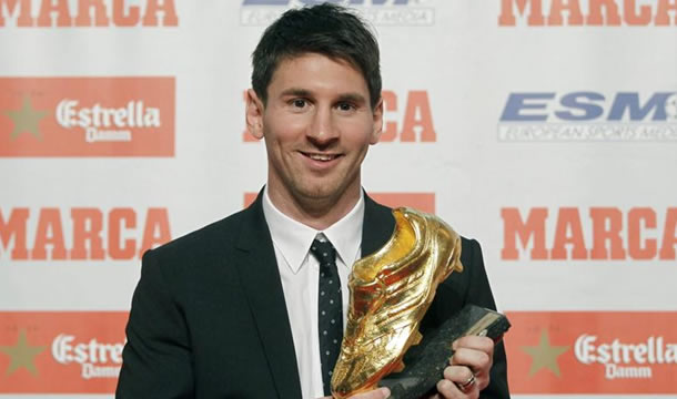 Messi recibió la 'Bota de Oro' del fútbol europeo