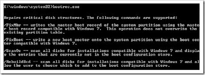 Bootrec.exe pada Command prompt