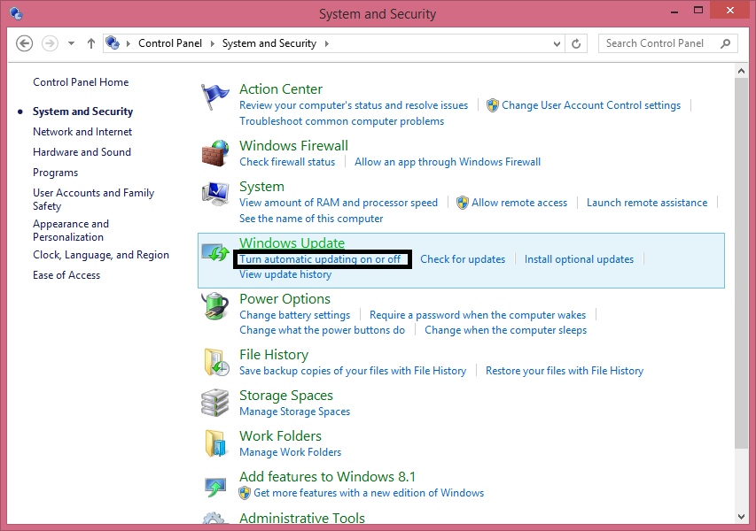 Cara Menonaktifkan Auto Update Windows 8