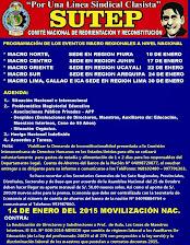 PROGRAMACIÓN DE EVENTOS MACROREGIONALES  PARA ENERO DEL 2015 A NIVEL NACIONAL