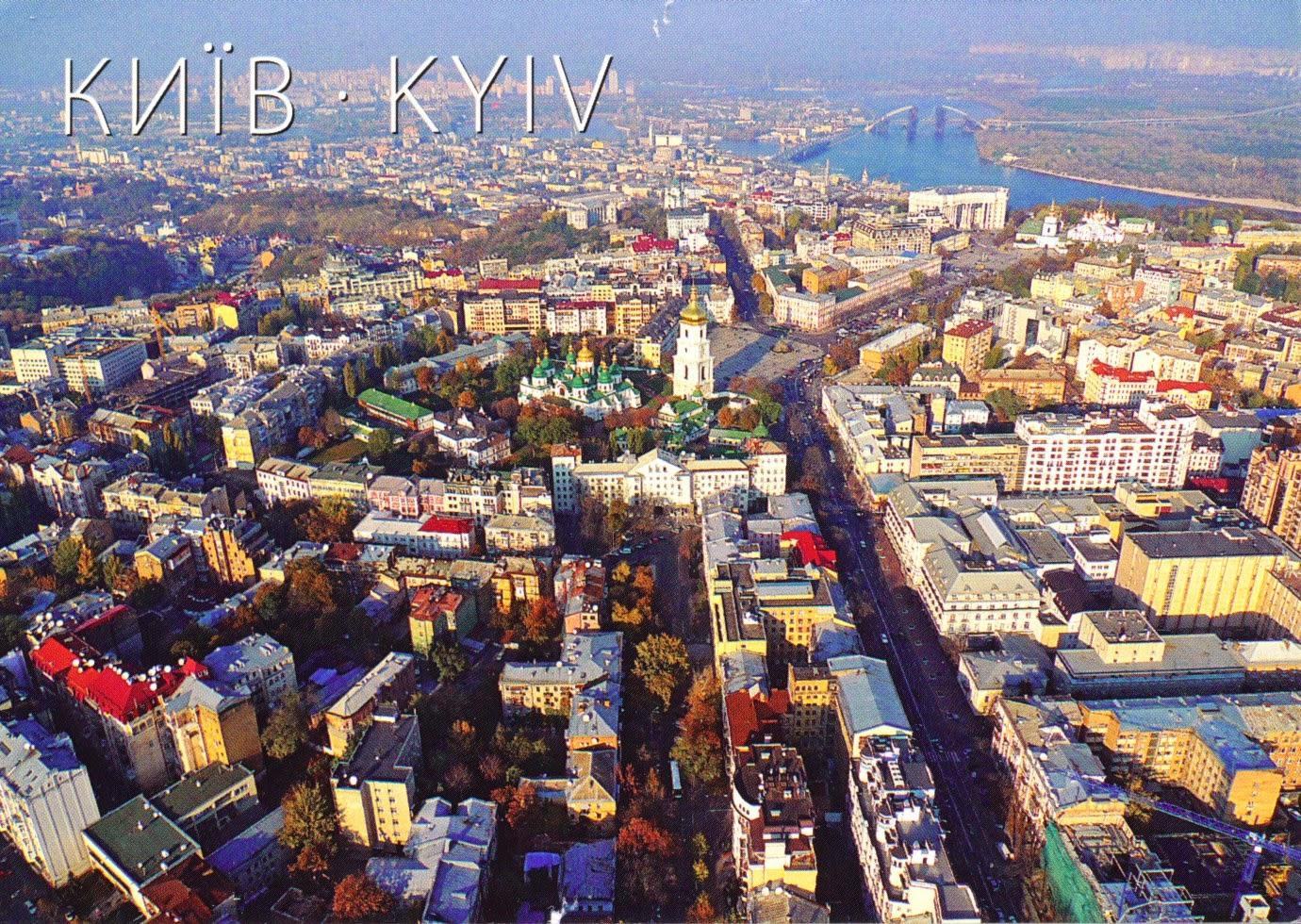 kiev, ukraine, euromaidan, city, postcard