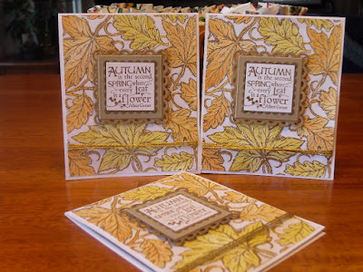 ODBD Leaves Background, ODBD Autumn Blessings, ODBD Customer Card of the Day by Leslie Springer