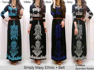 Gamis Batik Ethnic fit to L