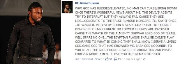 A Warning From Uti Nwachukwu