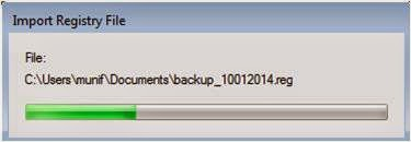 Proses Import BackUp