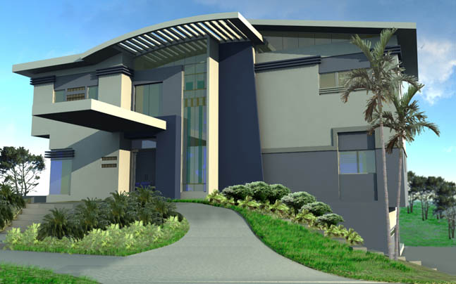 Modern House Design, custom house plans and stock house plans