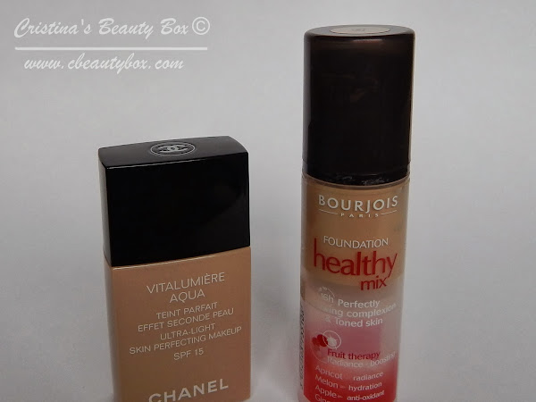 Foundation battle: Bourjois Health Mix Foundation vs Chanel Vitalumiere Aqua
