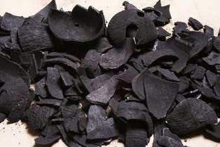 Coconut shell Charcoal, made from coconut shell
