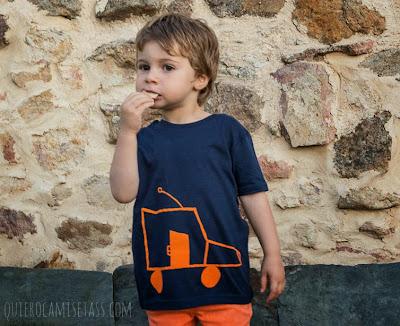 """camiseta de niño modelo """"Coche""""-Tienda Online de camisetas-QuieroCamisetass.com"""