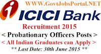 ICICI PO Recruitment 2015