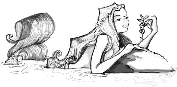 easy drawings of ariel the mermaid coloringsnet