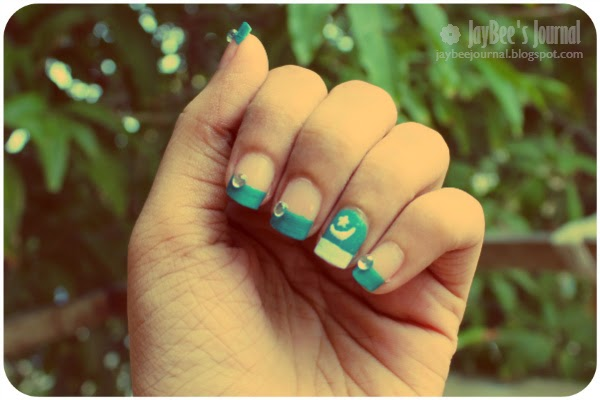 Pakistan Independence Day, Pakistani nail art and beauty blog
