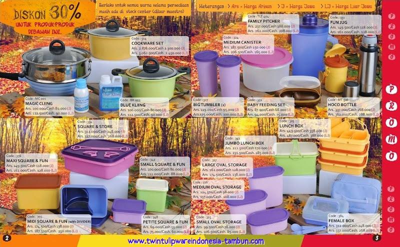 Promo Tulipware Diskon 30% Bulan September - Oktober 2014