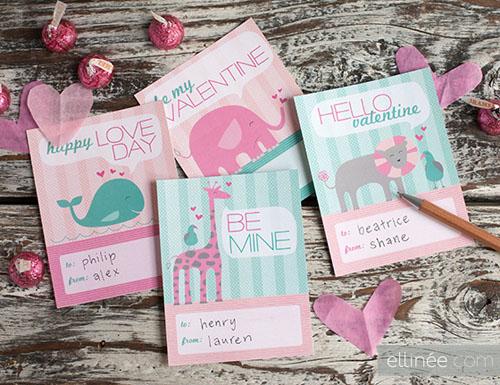 tarjetas san valentin animales