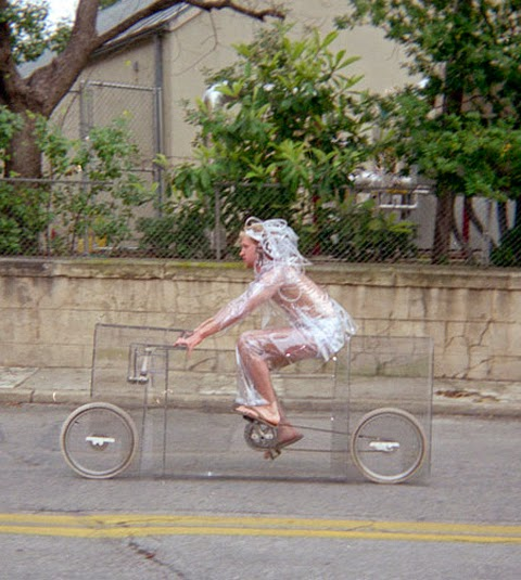 Jimmy Kuehnle Transparent Bulletproof Glass Bicycle