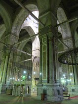 Interior of El Refa'i Mosque, Cairo.  The designs rival those of the great cathedrals of Europe.