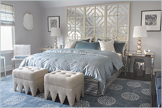 Mabley Handler Used Plenty Of Texture And Sparkle To Wow In This Bedroom