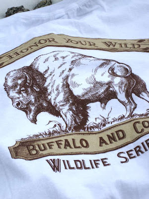 American buffalo (bison) wildlife t-shirt