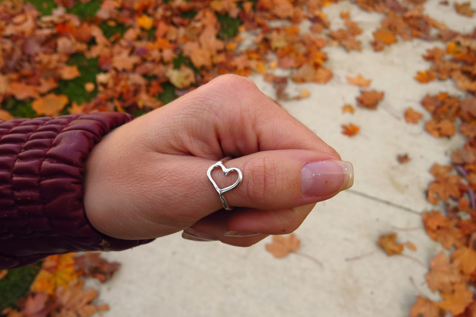 Open Heart Ring, Sterling Silver Heart Ring