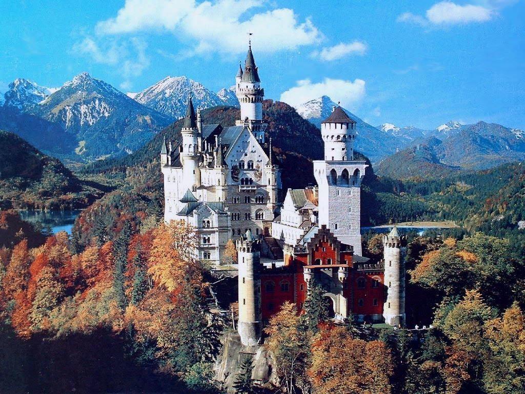 castle neuschwanenstein Neuschwanstein castle is perched above hohenschwangau, near füssen in  southern bavaria its construction started in 1869 on orders of king ludwig ii of.