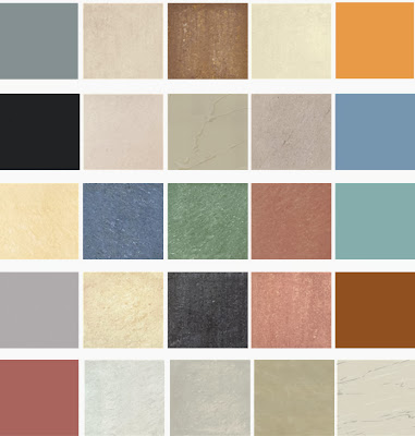 Colours in vitrified tiles