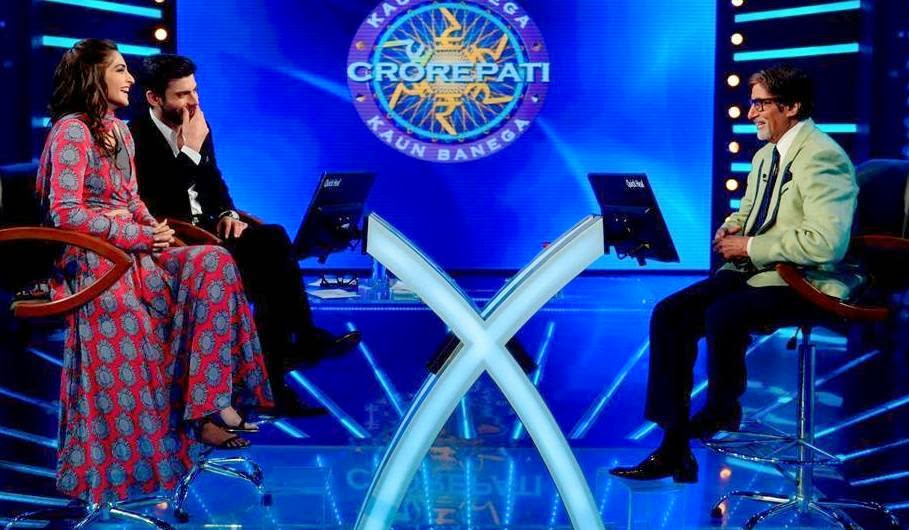 Sonam Kapoor and Fawad Khan at KBC for promotion of movie with Big B