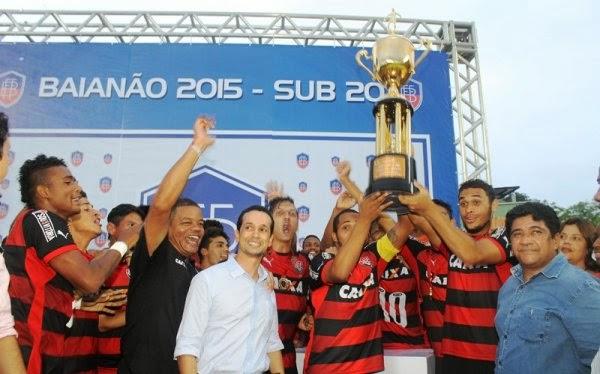 O Vitória é o campeão baiano Sub-20 de 2015
