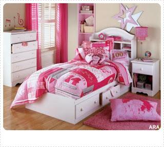 Contoh Desain Kamar Anak Warna Pink