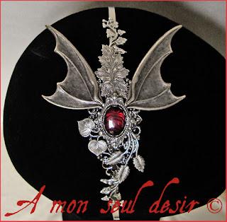 bijou dragon fantaisy accessoire coiffure cheveux médiéval dragons game of thrones le trône de fer daenerys targaryen abalone haliotis paua shell