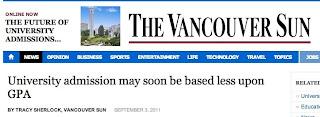 UBC Personal Profile - report in Vancouver SUN