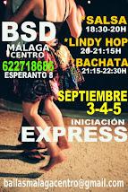 3-4-5 DE SEPTIEMBRE: SALSA, LINDY HOP Y BACHATA INICIACIÓN NUEVOS CURSOS, EN BSD MÁLAGA CENTRO.