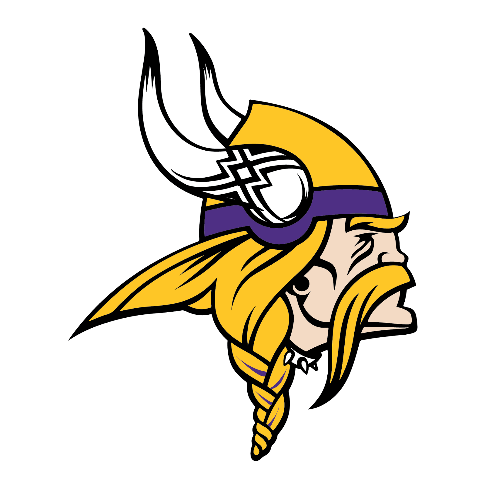 Minnesota Vikings, metal, logo, reimagined